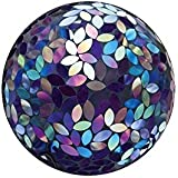 Evergreen Garden Flower Petal Mosaic Gazing Ball