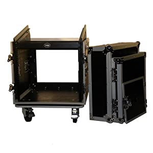 """Brand New Tov T-10mrss 10u + 10u Rack Space Dj Flight Case - Signature Series with Thicker 3/8"""" Plywood and Bigger 4"""" Wheels, and Better Quality Lamination"""