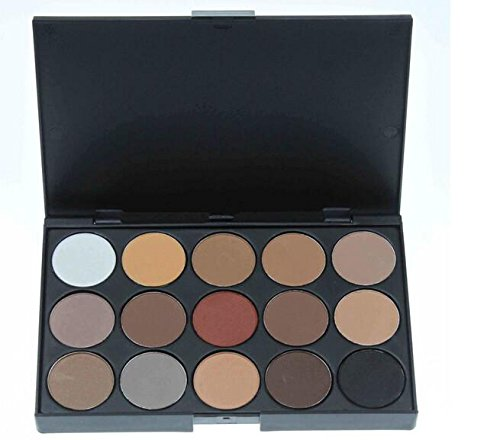 Smrroy Professional 15 Colors Warm Nude Matte Shimmer Eyeshadow Palette