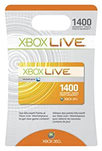 Xbox 360 Xbox Live 1400 Points Card