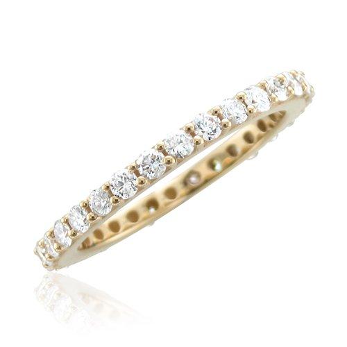 14k Yellow Gold Diamond Eternity Band (GH, SI3-I1, 1.00 carat)