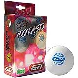 GKI Euro Plastic 40+ Table Tennis Ball, Pack Of 12 (White)