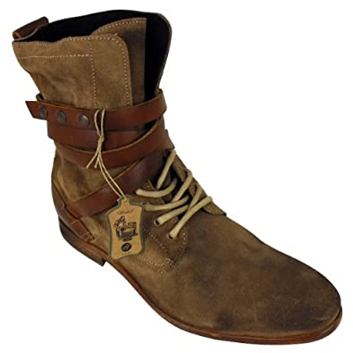 mens h by hudson yorke suede leather ankle boot lace up