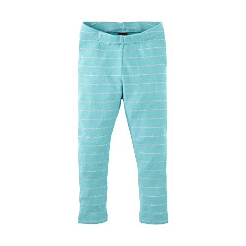 Tea Collection Little Girls 2-6 Twinkle Stripe Leggings (3T, Harbor Blue)