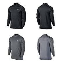 Nike Men's Dri-Fit Tiger Woods Mock Cover Up Golf Shirt-Black