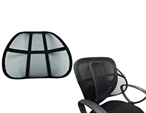 Lumbar Support Cushion Seat Back Muscle Car Home Office Chair Pain Relief Travel