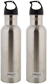 Beaut Stainless Steel Heavy Guage Plain Water Bottle, 750 ml, Pack of 2