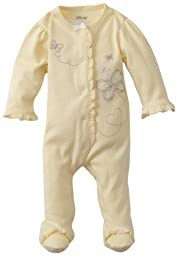 Little Me Baby Girl Newborn Butterfly Footie, Baby Yellow, 3 Months