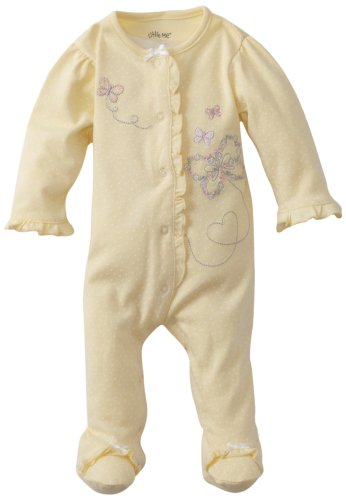 Little Me Baby Girl Newborn Butterfly Footie, Baby Yellow, Preemie