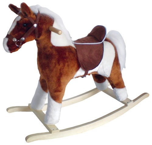 Charm Company Pinto Horse Rocker, Brown Saddle Brown Saddle - 1