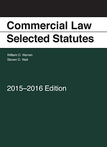 Commercial Law: Selected Statutes, 2015-2016