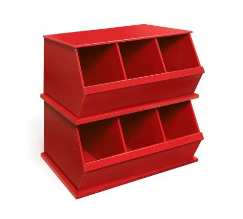 Imagen de Badger Basket Tres Storage Bin Cubby, Rojo