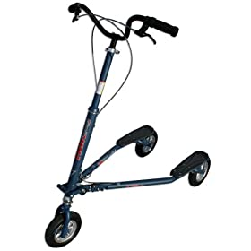 Trikke Tech T78A-BU Air Series 3-Wheeled Carving Scooter (Denim Blue)