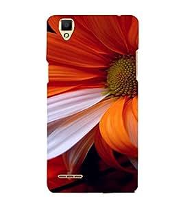 PrintVisa Flower Design 3D Hard Polycarbonate Designer Back Case Cover for Oppo F1