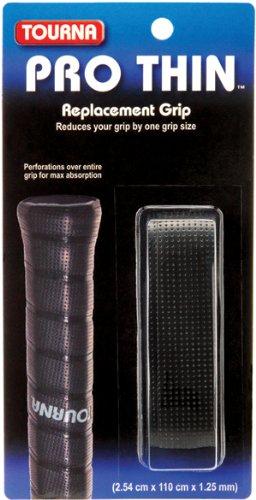 Tourna Tennis Racquet Replacement Grip Pro Thin Grip 1.25 mm-White (Badminton)