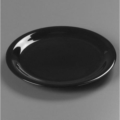 SierrusTM Dinner Plate - Narrow Rim 9 - Black by Carlisle