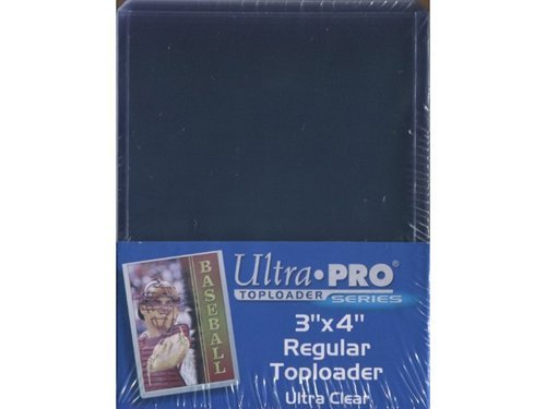 Ultra Pro Card Holders with 100 Ct Bag of Sleeves, Pack of 4 (Top Loader Sports Cards compare prices)
