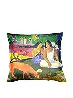ARTE E TESSUTI by MANIFATTURE COTONIERE Cojín Con Relleno Extraíble Gauguin - Area Area Verde/Multicolor