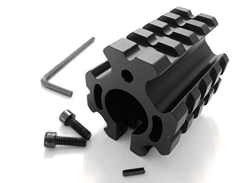 Ade Advanced Optics .75″ Quad Picatinny Rail Low Profile Gas Block for .223 5.56 Airsoft Rifle