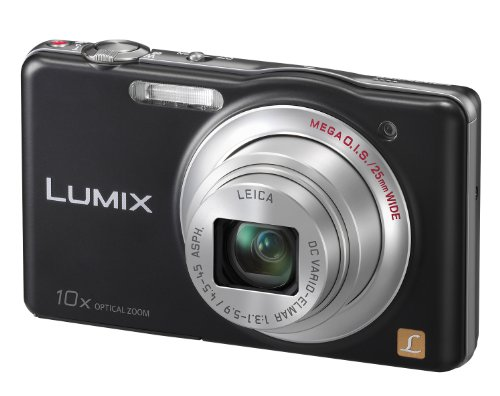 Panasonic DMC-SZ1EB-K Black 10x Super Zoom Compact Camera with 25mm LEICA Lens and HD Movie