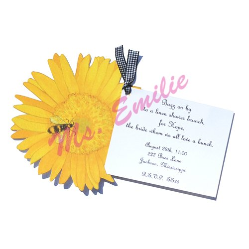 Sunflower Die-Cut Card, Pack Of 10 front-940306