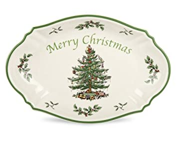 #!Cheap Spode Christmas Tree Merry Christmas Tree Tray