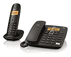 Gigaset A590 Corded Cordless Combo Phone (Black)