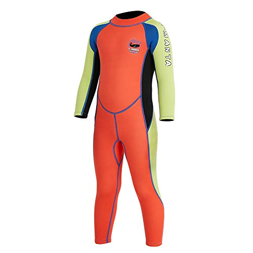 4461a618d7 Neoprene Kids Wetsuit for Boys Girls 2.5MM One Piece Full Body Long Sleeve  Swimsuit