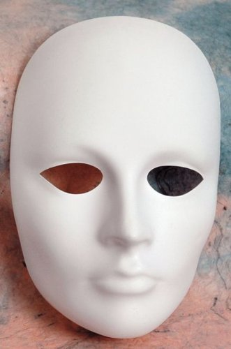 Plastic Masks To Decorate Modeling Compounds Female Plastic Mask Plain Undecorated 2