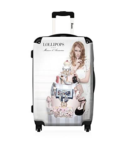 ikase 20″ Woman Lollipop Suitcase, Black/White