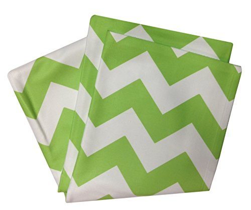 Chevron Bright Green/White Fleece Throw Blanket 50X60 Inches