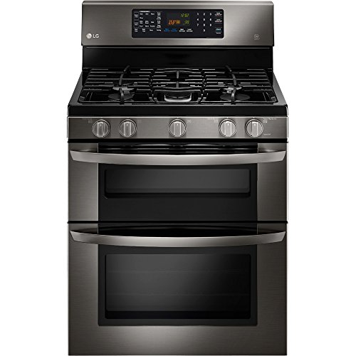 LG LDE3037BD Black Stainless Steel Series 6.7 cu. ft.  Capacity Electric Double Oven Range (Black Double Ovens compare prices)