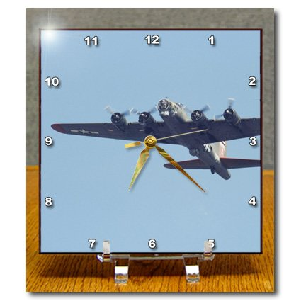 dc_97120_1 Danita Delimont - War Planes - B-17 G Flying Fortress, War plane - US50 BFR0041 - Bernard Friel - Desk Clocks - 6x6 Desk Clock