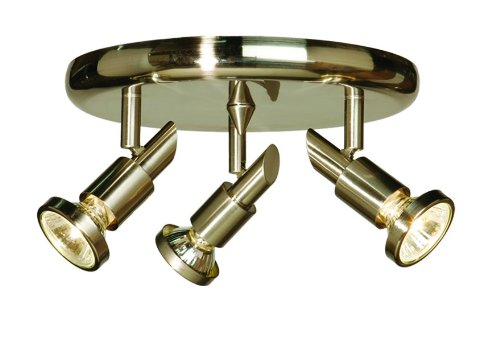 Artcraft Lighting AC5839BN Shuttle 3-Lite Round Canopy Track Light, Brushed Nickel