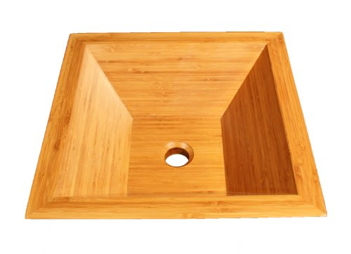Angular Bamboo Vessel Sink Top Mount