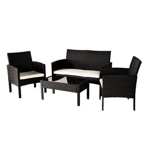 poly rattan lounge sitzgruppe rattan sofa sitzgarnitur tisch stuhl gartenm bel bestellen. Black Bedroom Furniture Sets. Home Design Ideas