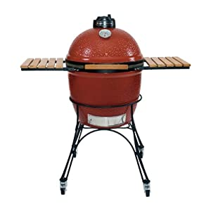 Kamado Joe KJ23R 23-Inch Grill, Red (Discontinued by Manufacturer)