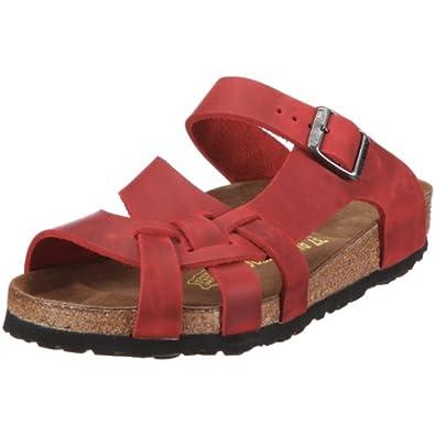 Birkenstock Pisa 75981 - Sandalias de cuero para mujer, color rojo, talla 43