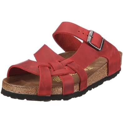 Birkenstock Pisa 75981 - Sandalias de cuero para mujer, color rojo, talla 42