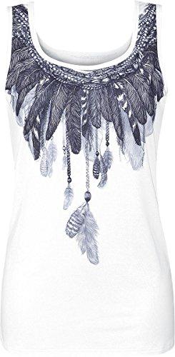 Innocent Feather Top donna bianco XXL