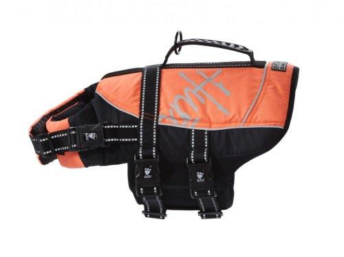 Hurtta Pet Collection Life Jacket, 40-80-Pound, 19-25-Inch Neck, 26-35-Inch Chest, Orange