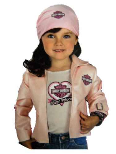 Rubies Halloween Harley Davidson Biker Girl Dress Up Kit Large 8-10 Years Pink