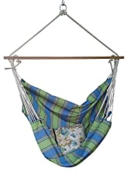 Hangit Canvas Fabric Hammock swings for home indoor outdoor with wood spreader bar
