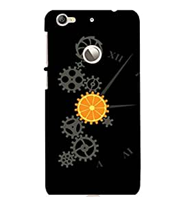 printtech Cool Mechanical Orange Design Back Case Cover for LeEco Le 1s