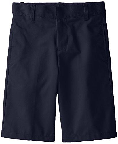 French Toast Big Boys' Basic Flat Front Short with Adjustable Waist, Navy, 12