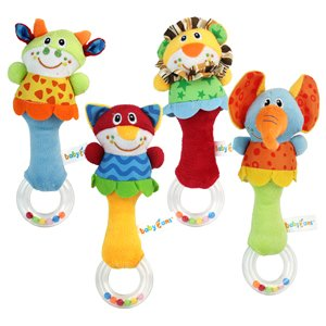 New Lovely Soft Hand bells Animal Model Long Handbell Developmental Toy Hot