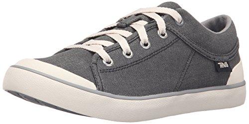 Teva Women's W Freewheel Washed Canvas Shoe, Black/Grey, 7 M US