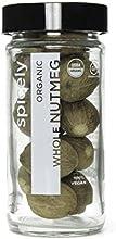 Spicely Organic Nutmeg Whole - Glass Jar - Gluten Free - Non Gmo - Vegan - Kosher