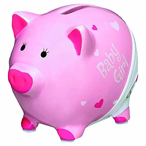 "Amscan Precious Bear Piggy Bank Baby Shower Party Favor, 3-1/2 x 3-1/2"", Pink"