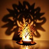 M.G.R.J Surya OM Ji Shadow Lamps Tealight Candle Holder Stand For Pooja And Decorative